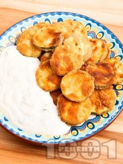 Пържени тиквички с кисело мляко - снимка на рецептата